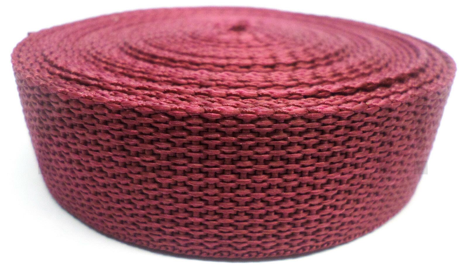 Band bordeaux op rol 25 mm 10 meter
