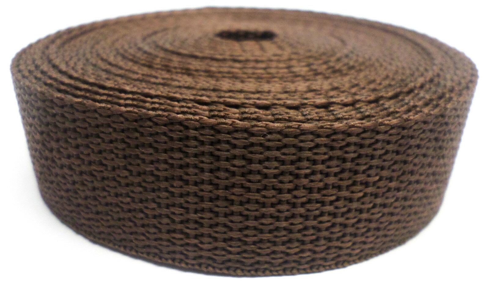 Band bruin op rol 25 mm 5 meter