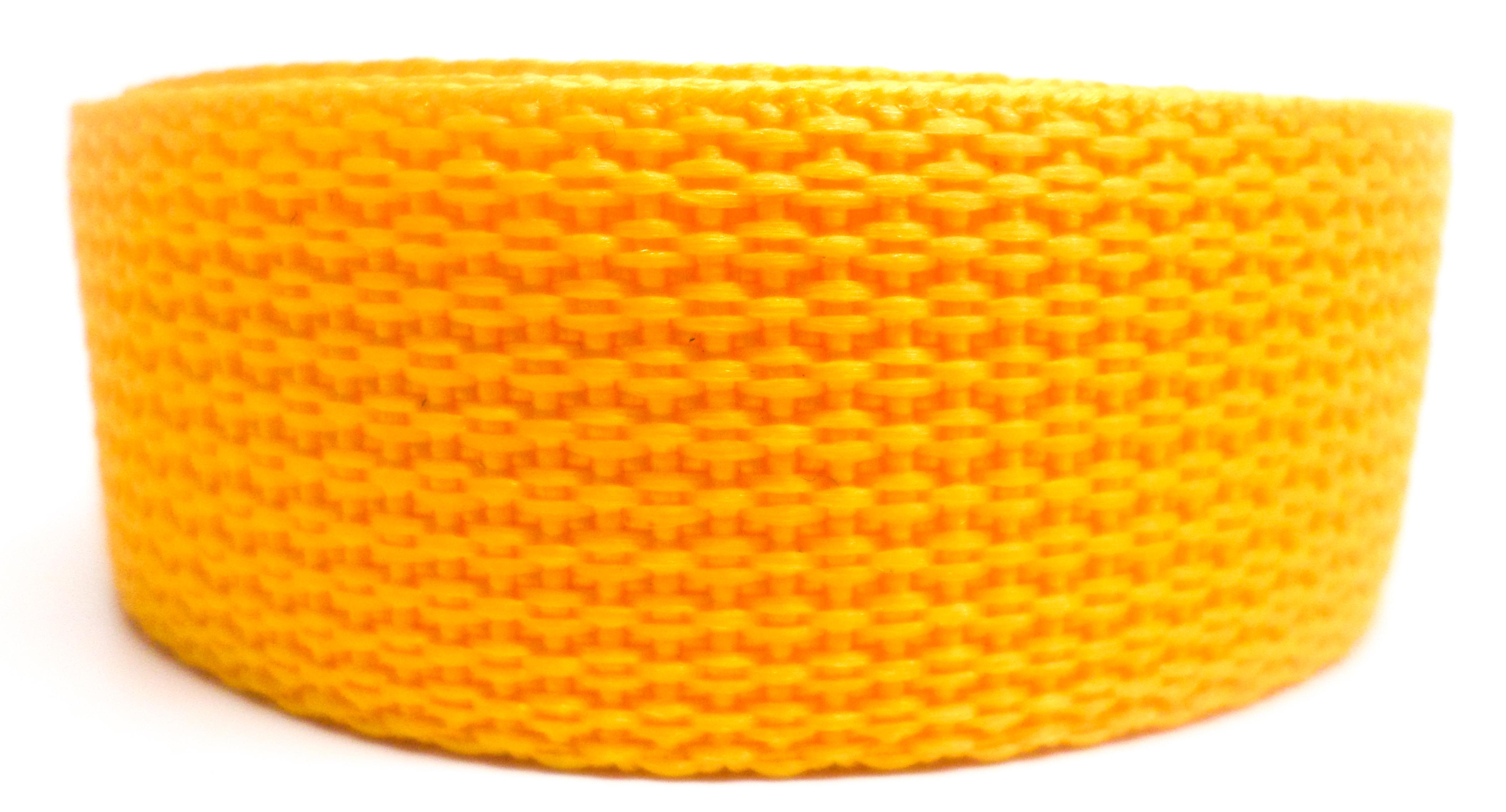 Band citroengeel op rol 50 mm 50 meter