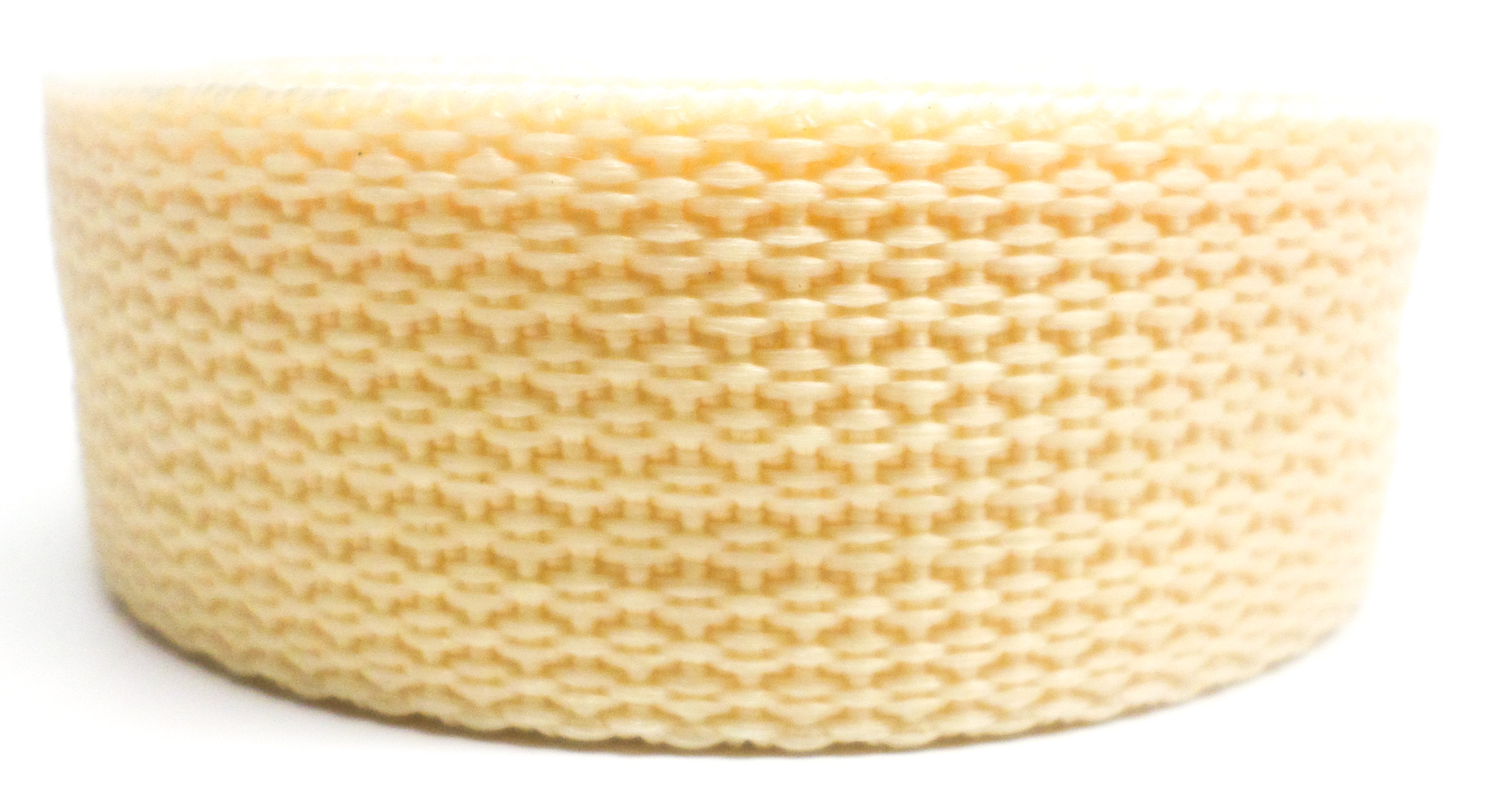 Band crème op rol 50 mm 50 meter