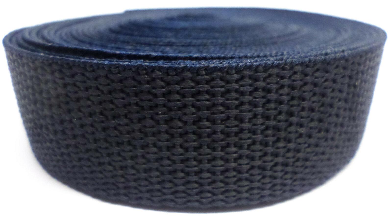Band donkerblauw op rol 25 mm 50 meter