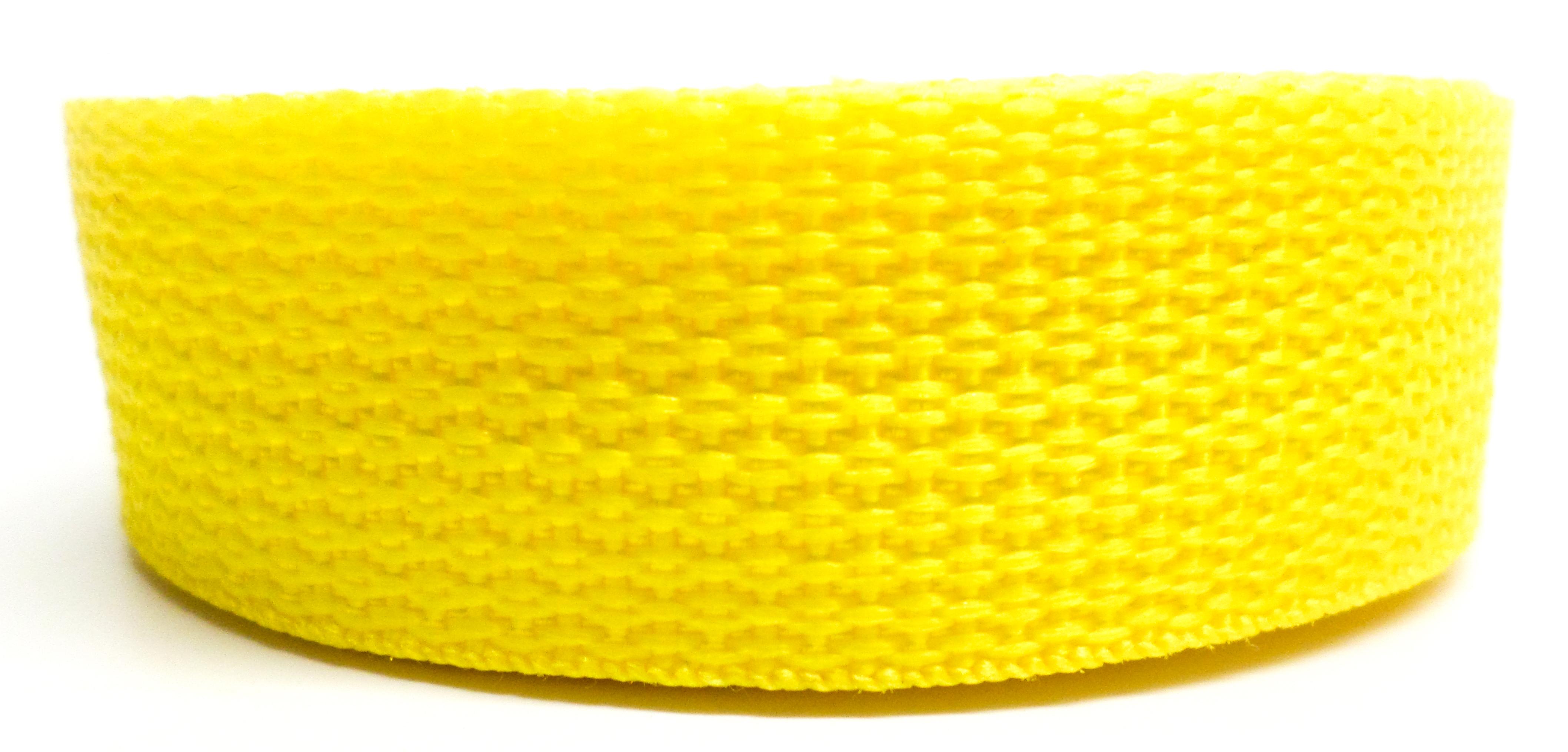 Band geel op rol 50 mm 50 meter