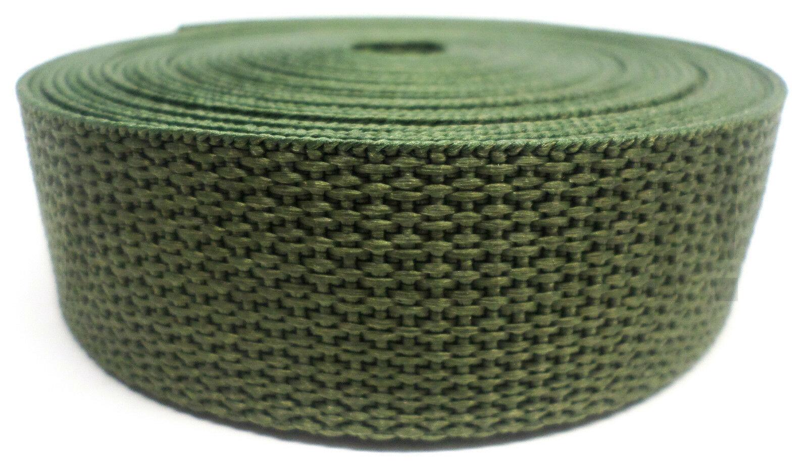Band olijfgroen op rol 25 mm 10 meter