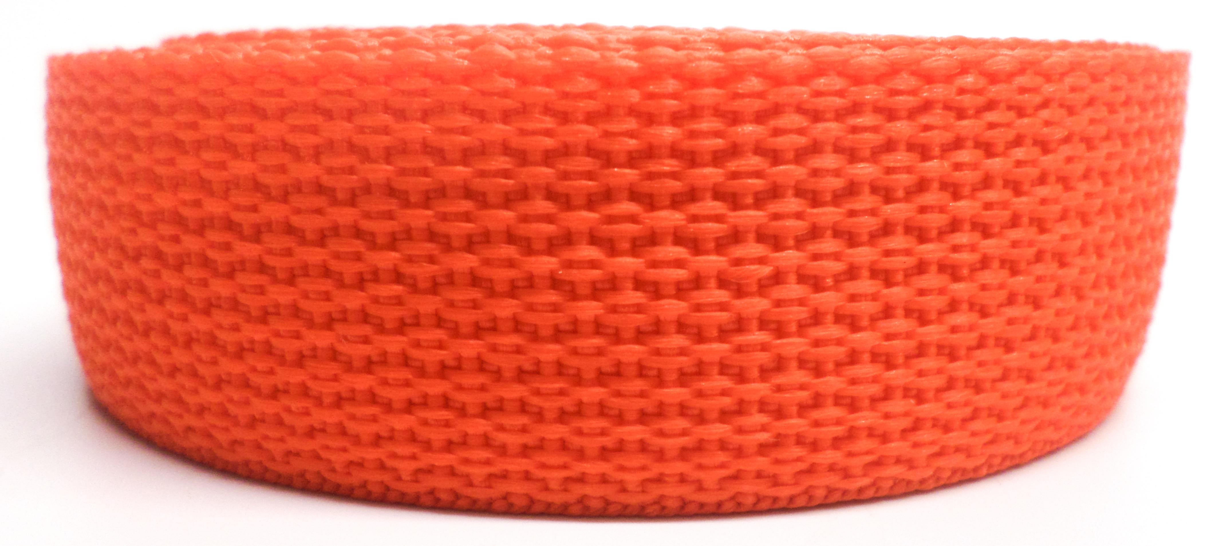 Band oranje op rol 50 mm 50 meter