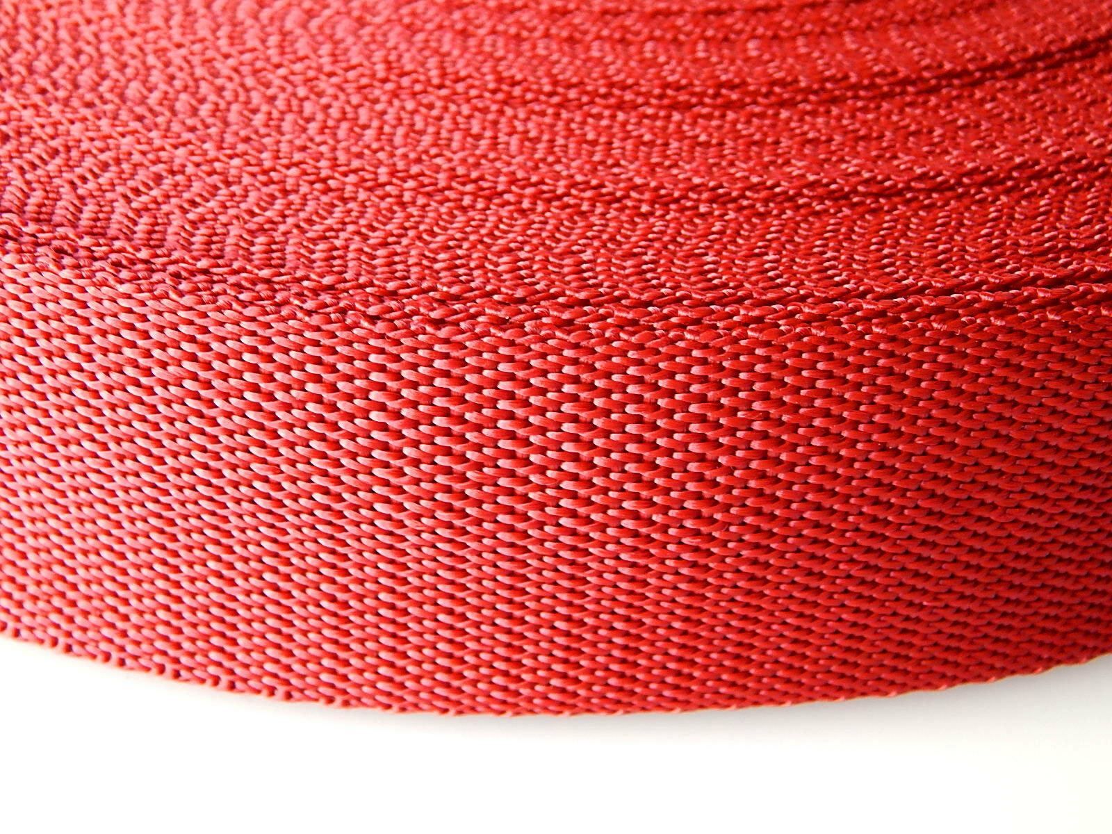 Band rood op rol 25 mm 50 meter