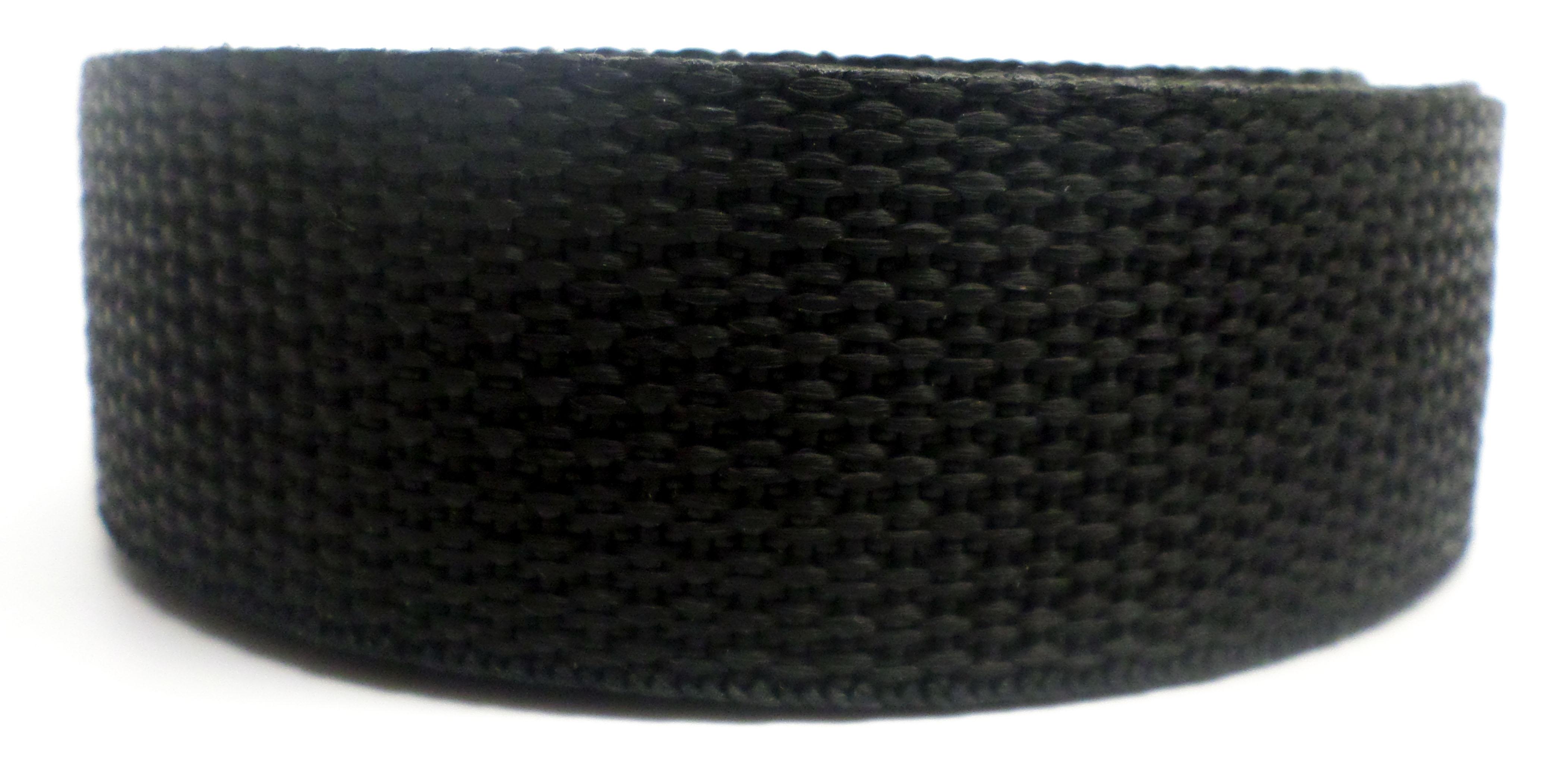 Band zwart op rol 25 mm 50 meter
