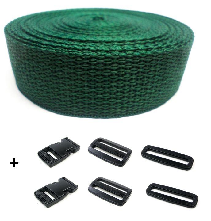 Complete band groen 25 mm 5 meter en gespen