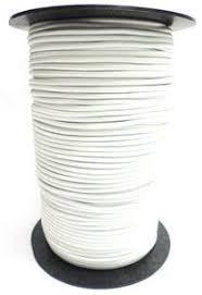 Elastisch koord op rol 1.5 mm wit 10 meter (voor mondkapjes)