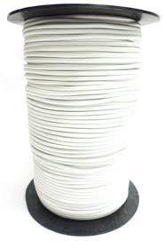 Elastisch koord op rol 2 mm wit 25 meter (voor mondkapjes)