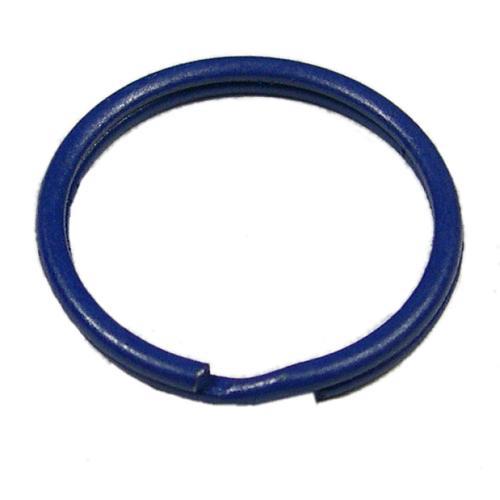 Gekleurde sleutelring blauw 25 mm 10 stuks