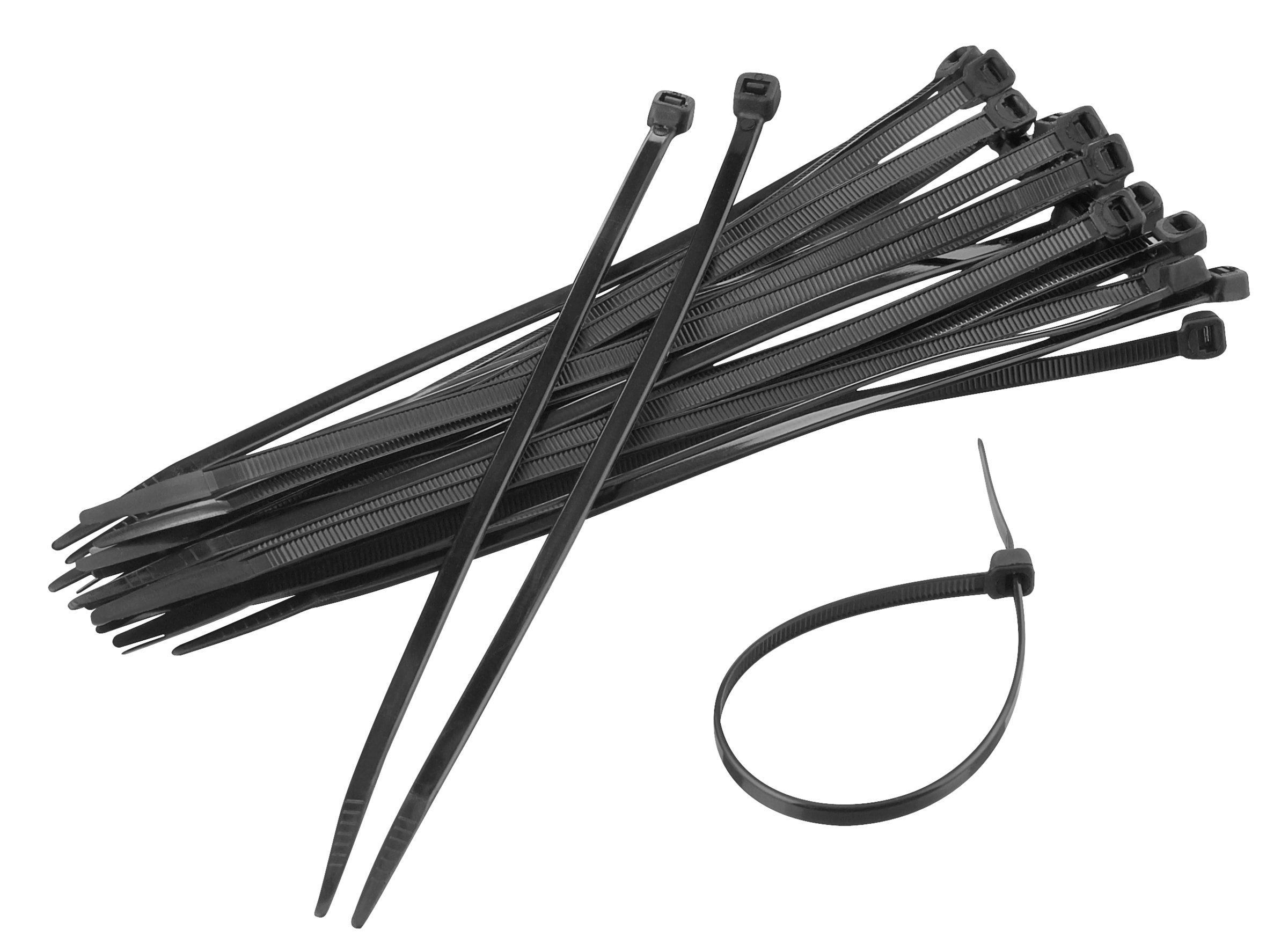 Kabelbinders 300 x 4,8 mm zwart per 50 stuks