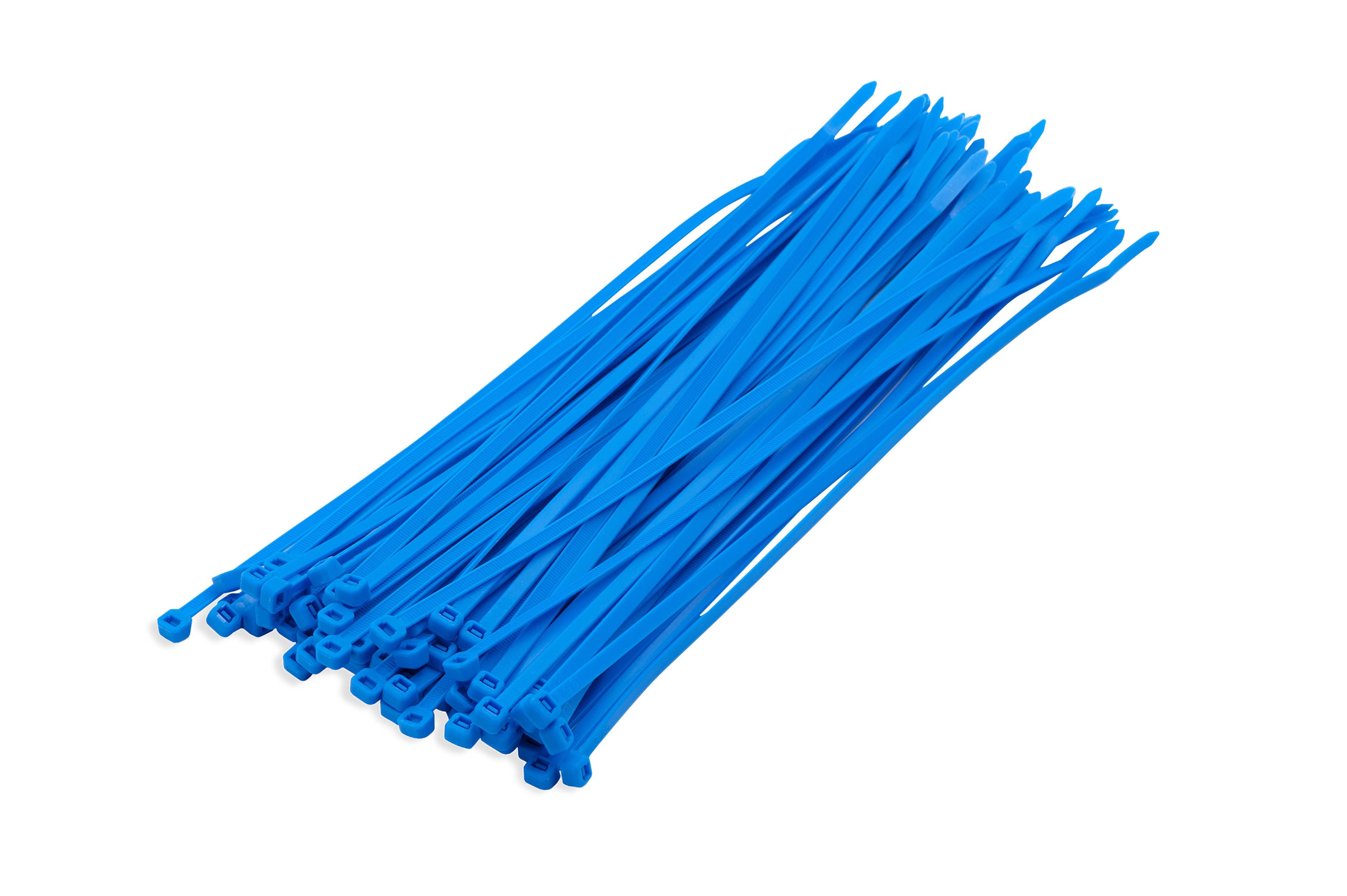 Kabelbinders blauw 3,6 x 200 mm 100 stuks
