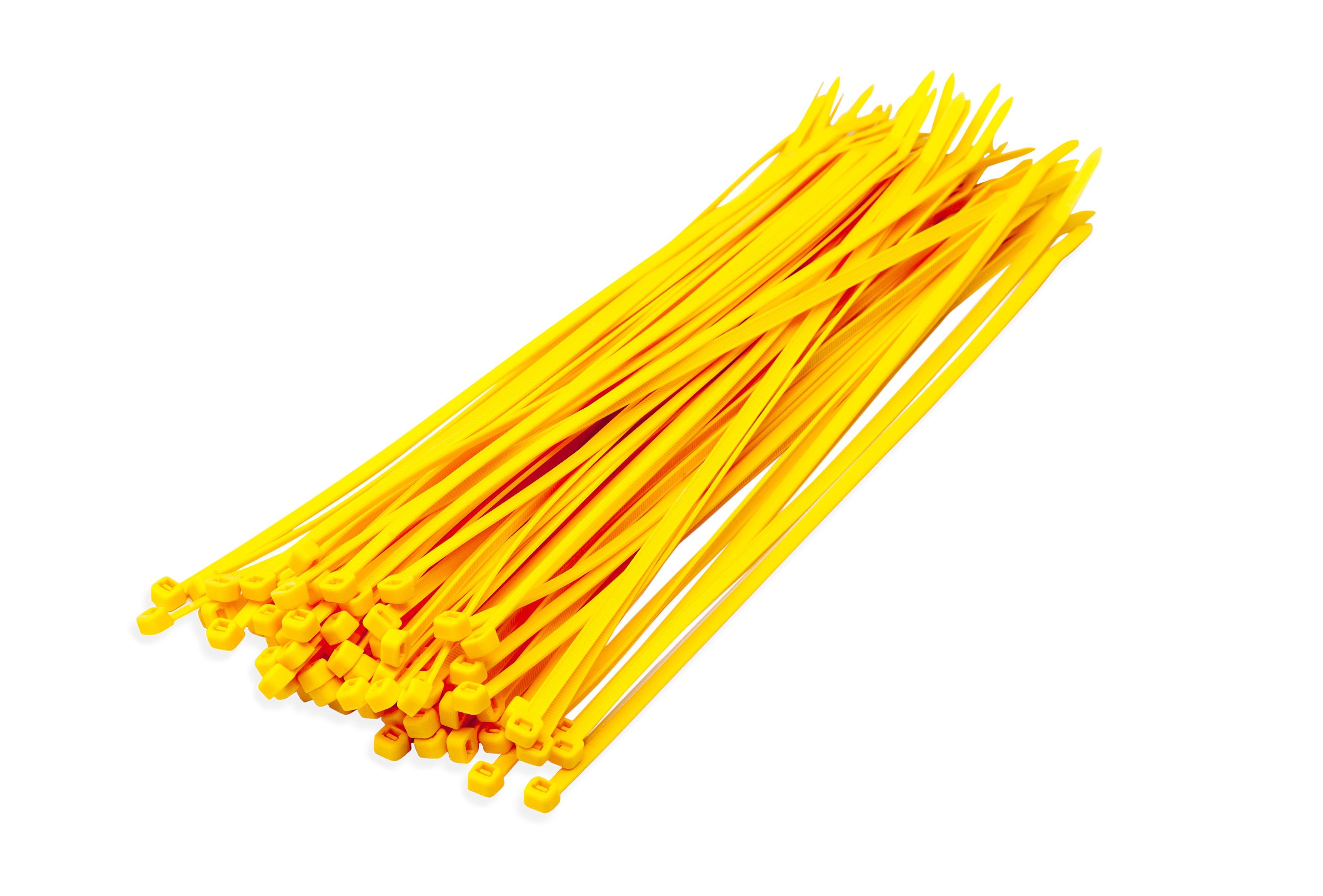 Kabelbinders geel 3,6 x 200 mm 100 stuks