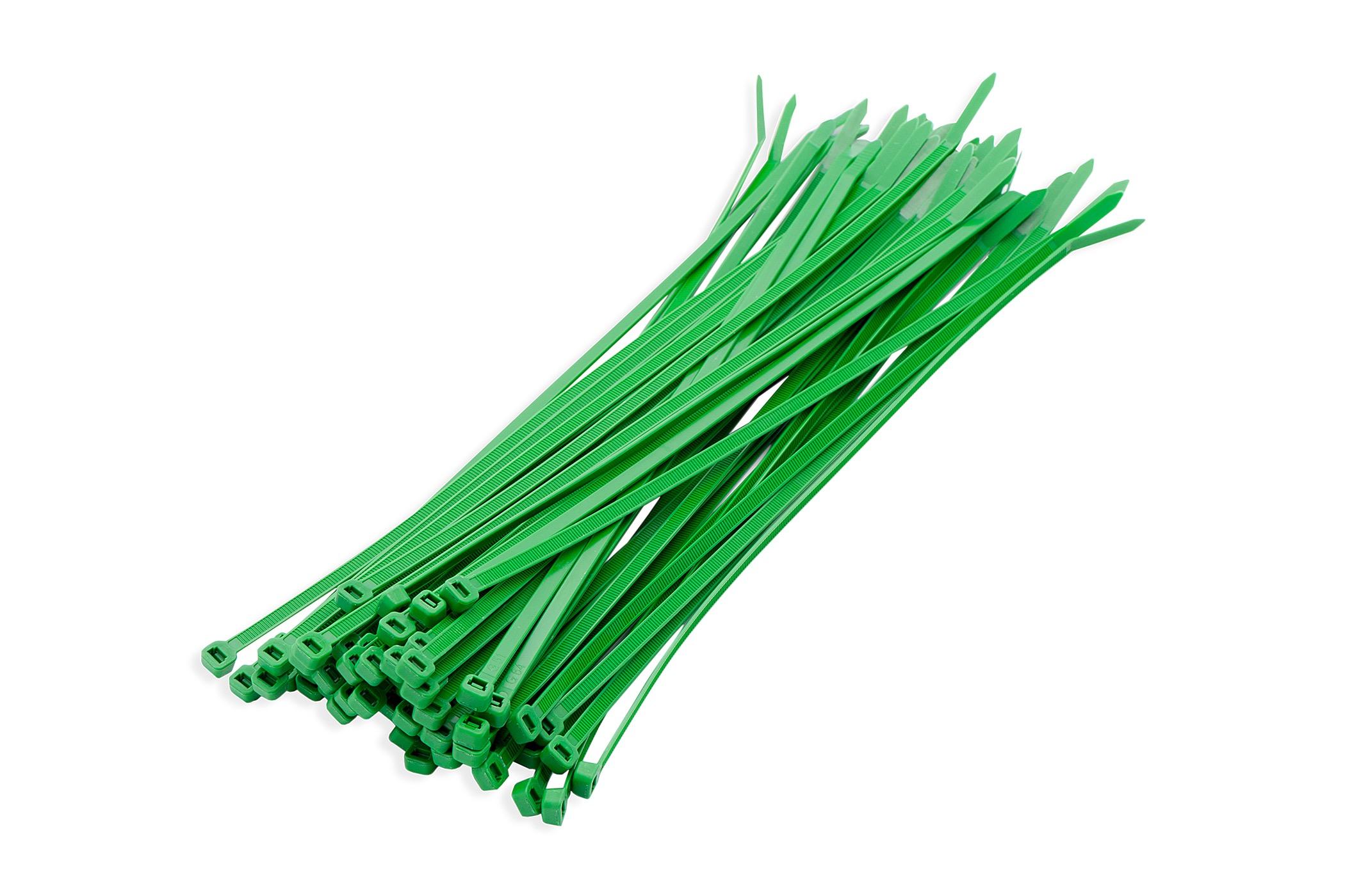 Kabelbinders groen 3,6 x 200 mm 100 stuks