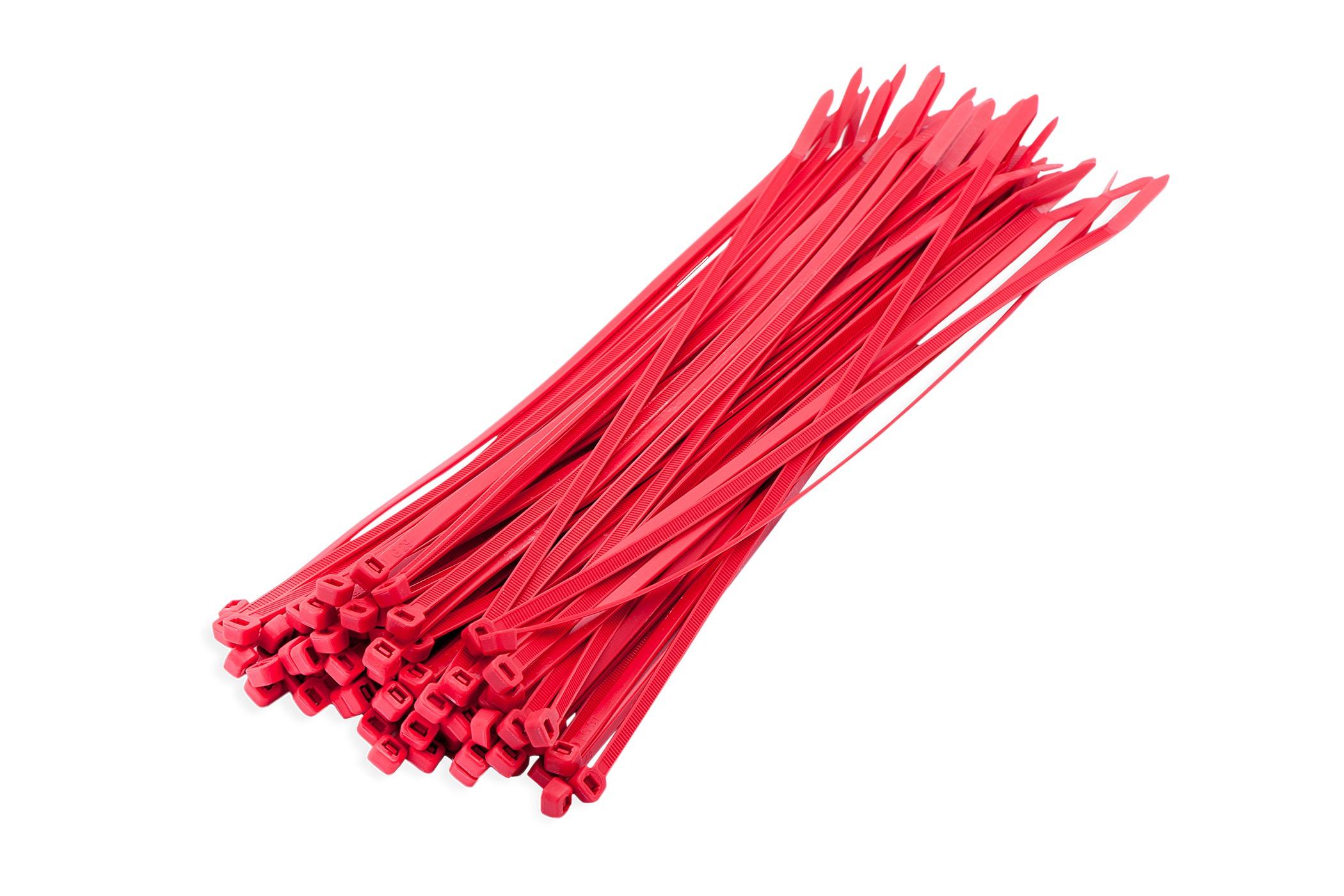 Kabelbinders rood 3,6 x 200 mm 100 stuks