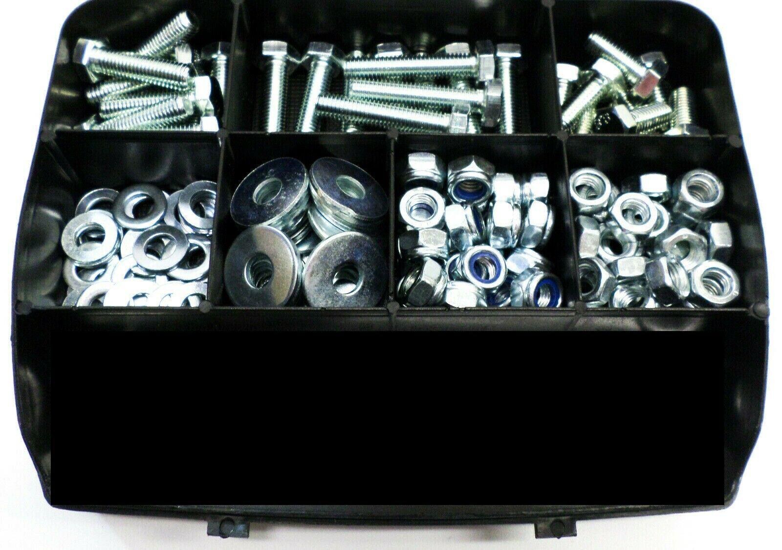 Schroeven, moeren, ringen M8 in assortimentsbox 150 stuks
