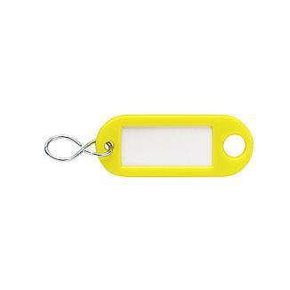 Sleutellabel geel