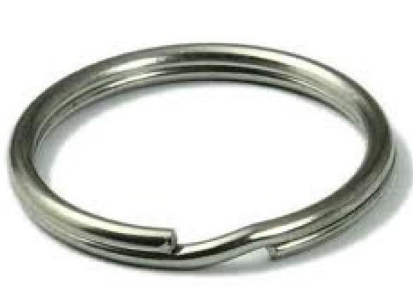 Sleutelring RVS Ø 17 mm 100 stuks