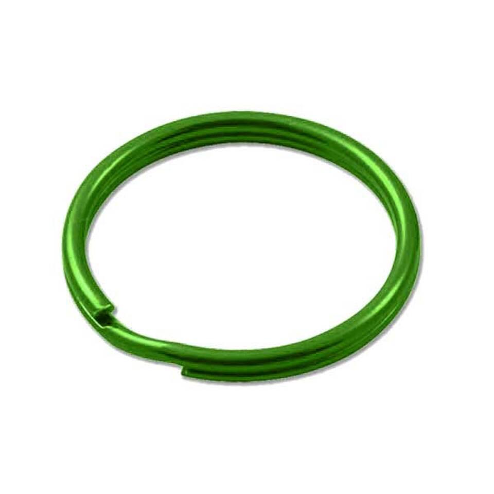 Sleutelring groen 25 mm 10 stuks