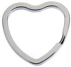 Sleutelringen hartvorm 33 mm 10 stuks