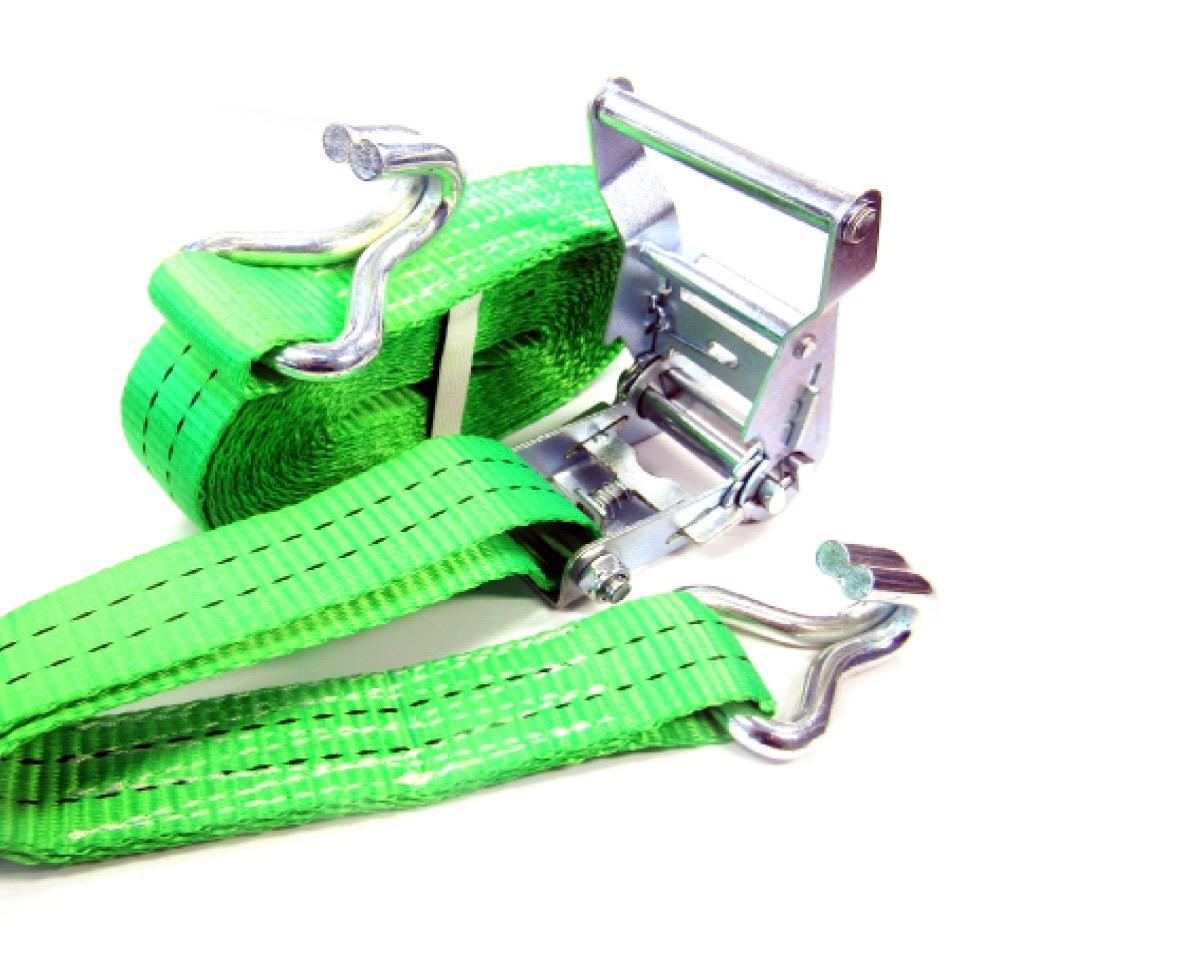 Spanband 36 mm 2000 kg groen met ratel en haak