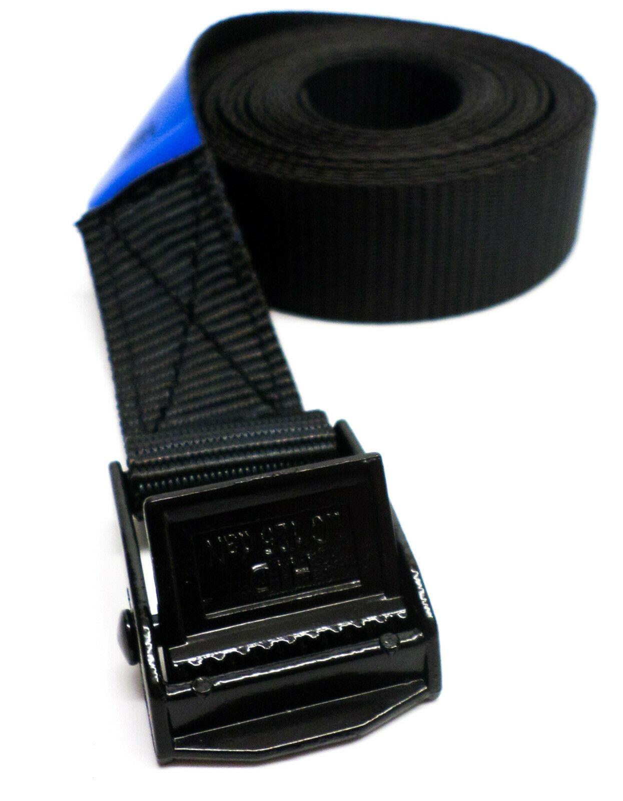 Spanband zwart 3 meter met zwarte klemsluiting