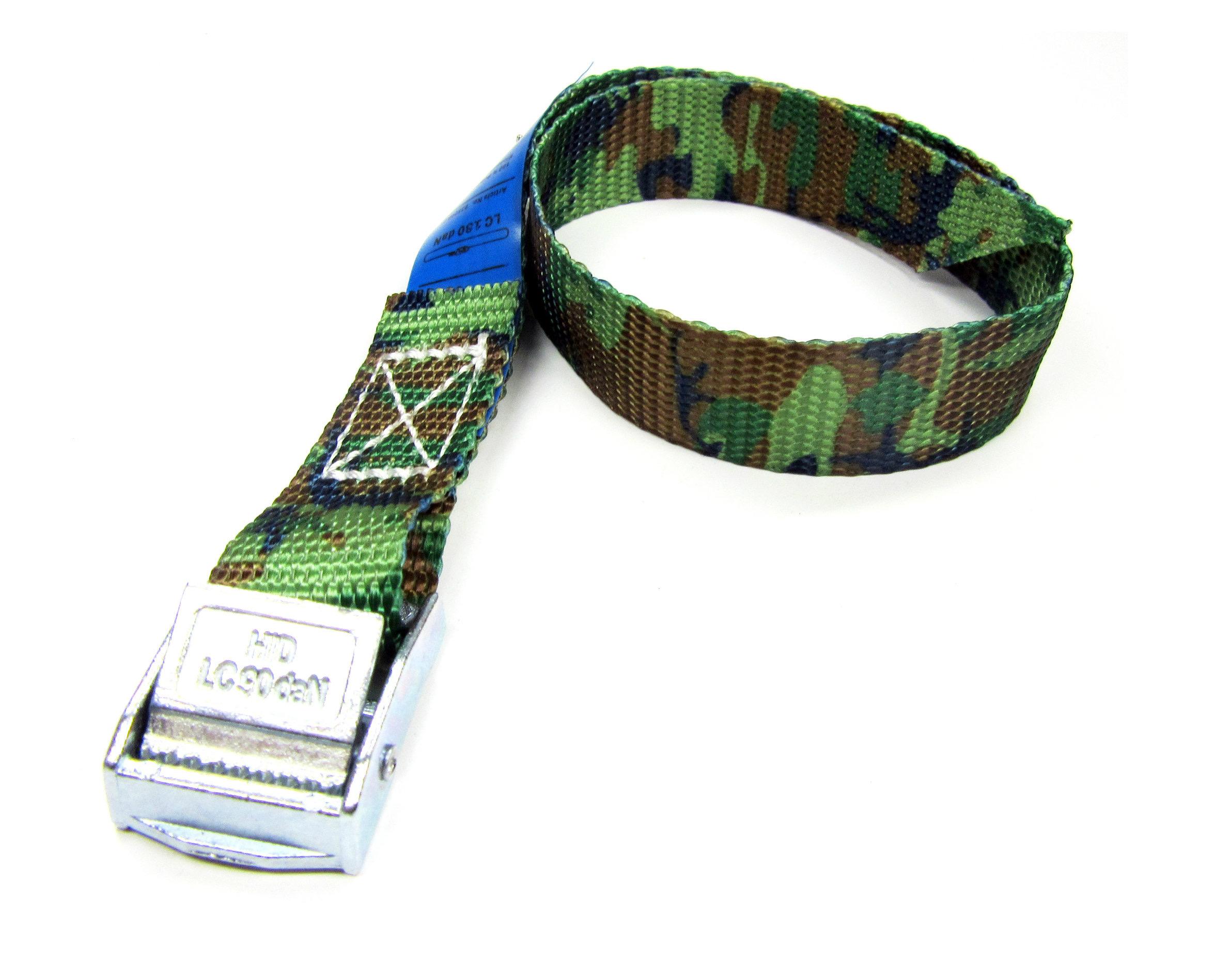 Spanbanden camouflage 20 mm met klemsluiting 100 stuks