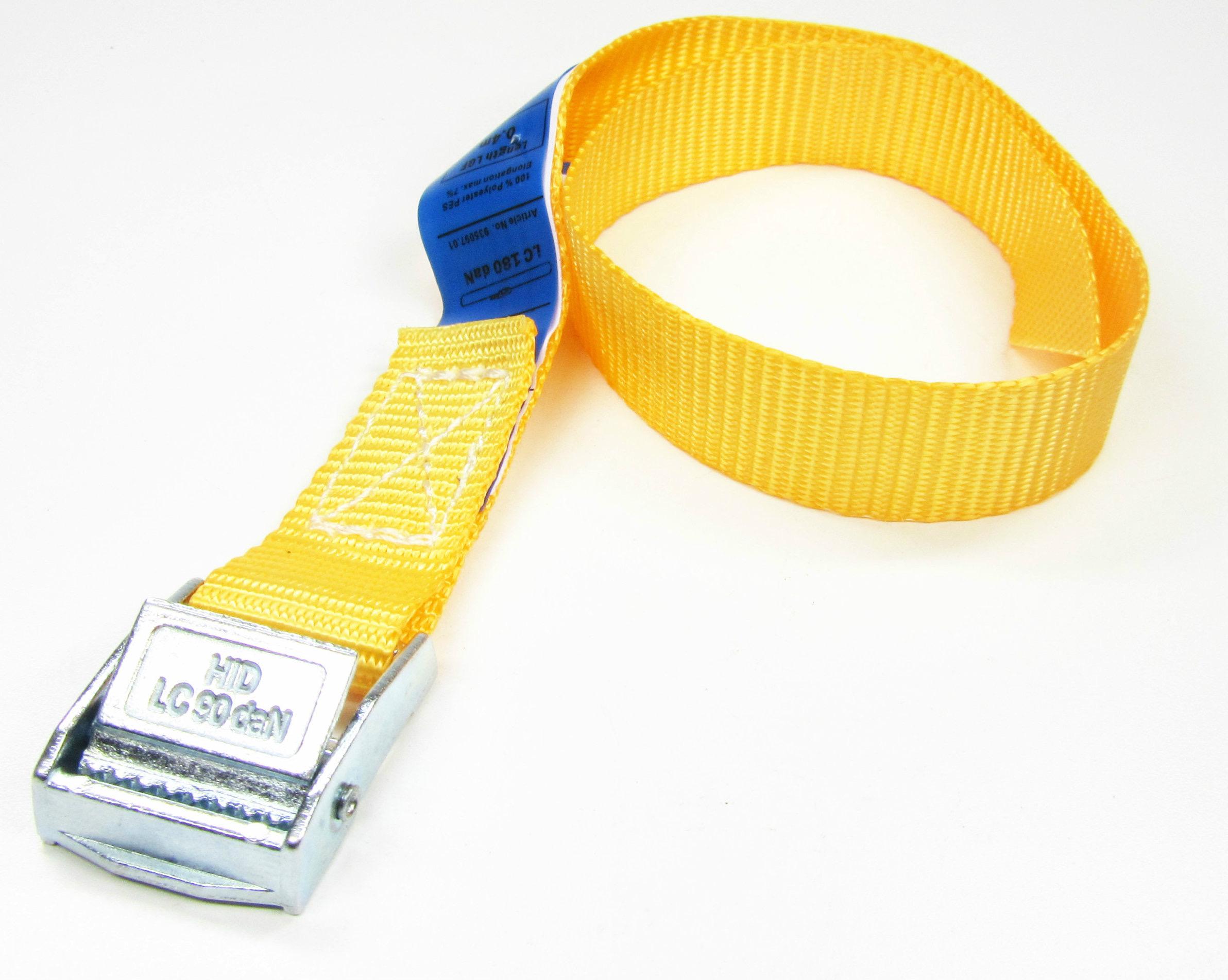Spanbanden oranje 20 mm met klemsluiting 100 stuks