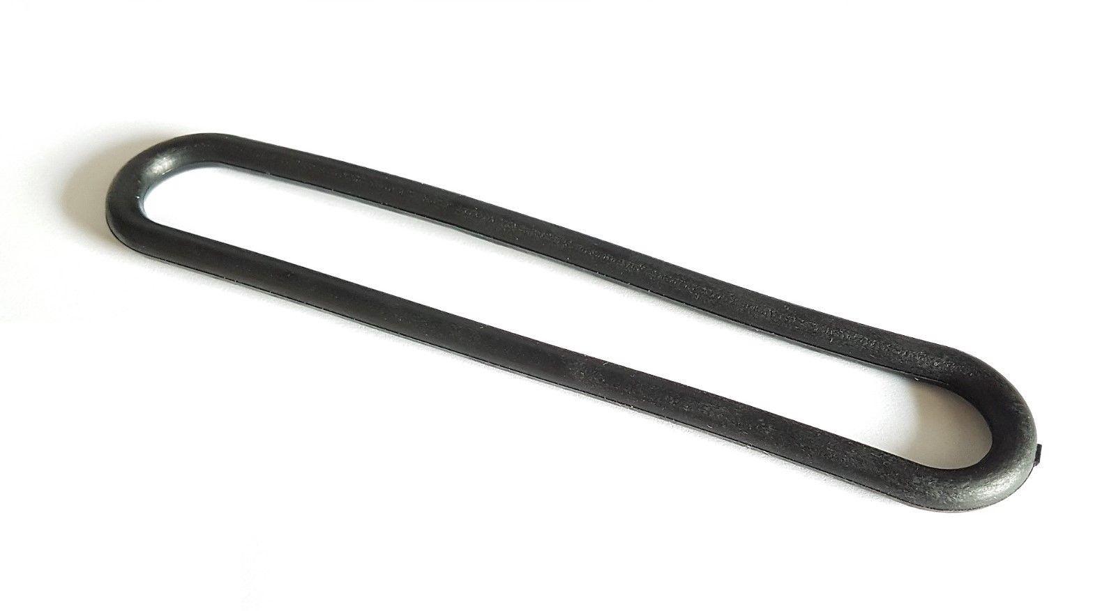 Spanrubbers zwart 20 cm 8 mm dik
