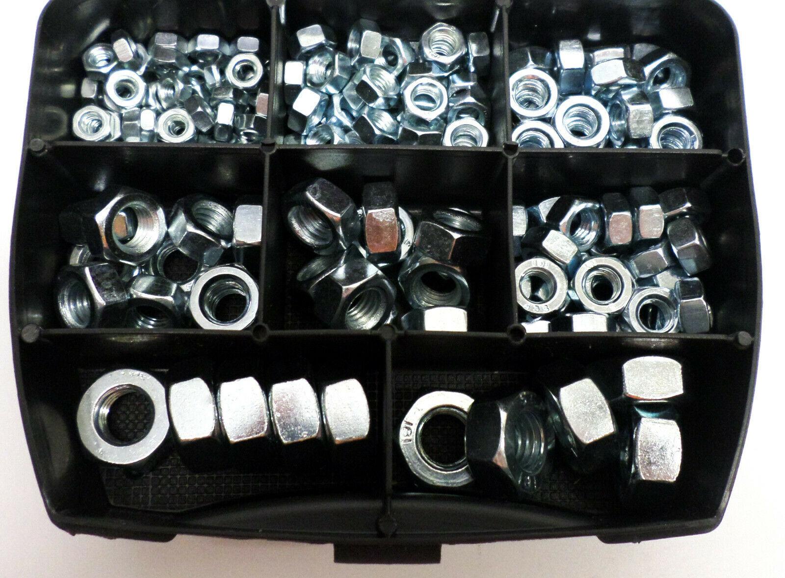Zeskantmoeren DIN934 in assortimentsbox 181 stuks