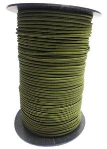 Elastisch koord op rol 3mm olijfgroen