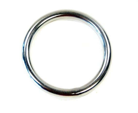 Ronde RVS ring 20 x 3mm