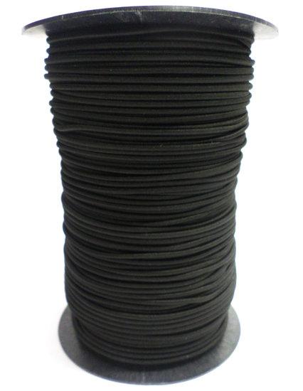 Elastisch koord op rol 4mm zwart