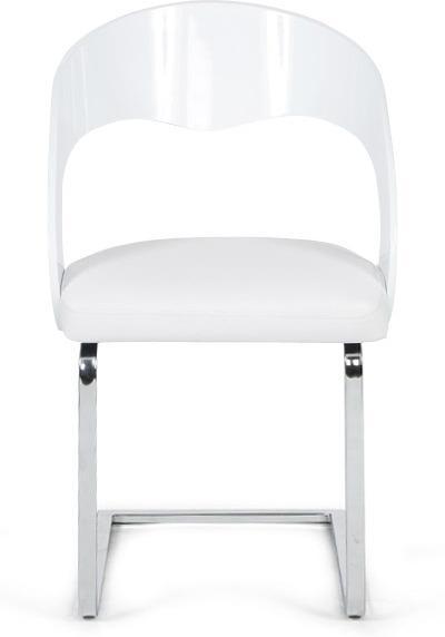 Stoel mona wit kunstleer kokoon design for Design stoel wit