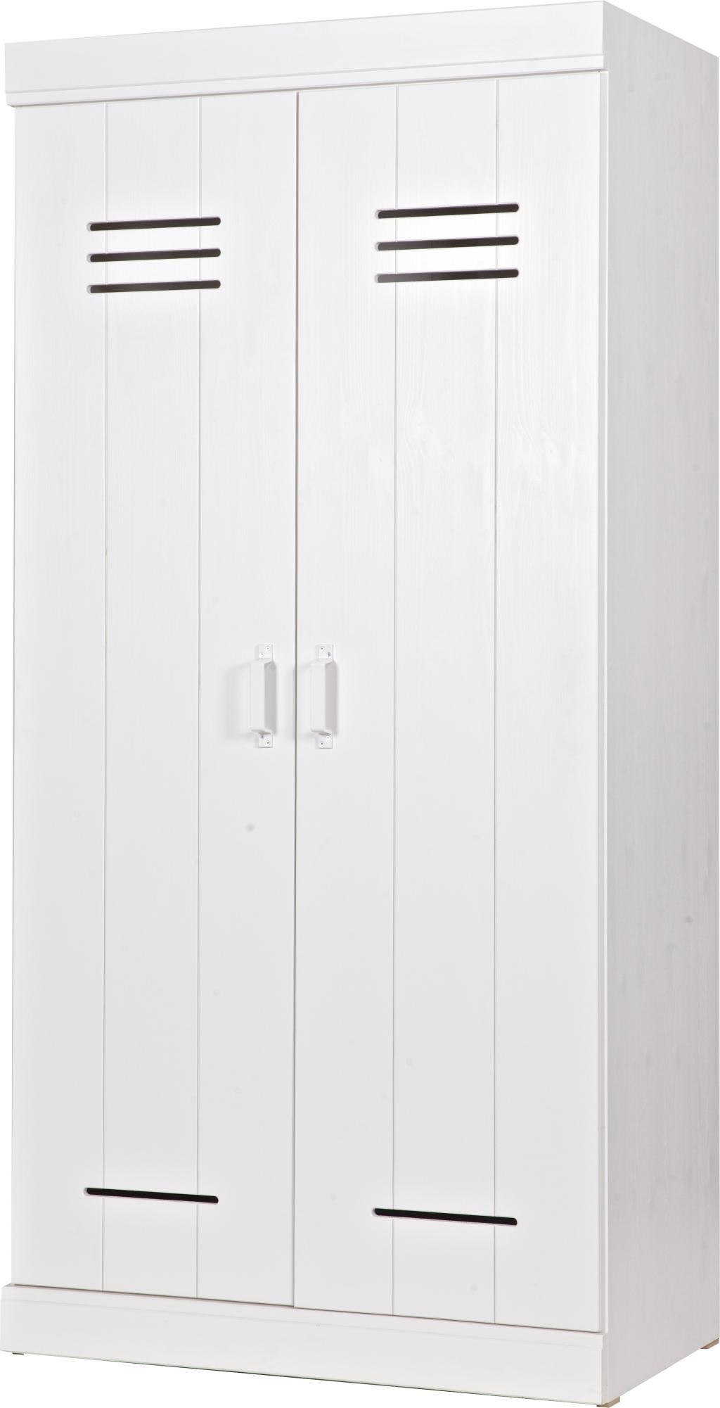 kleiderschrank connect spindt r wei 2 t re 2 laden woood kaufen. Black Bedroom Furniture Sets. Home Design Ideas