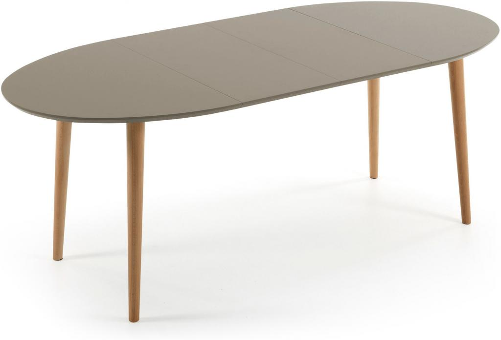 eettafel oqui verlengbaar 120 200 x 90 cm taupe la forma. Black Bedroom Furniture Sets. Home Design Ideas