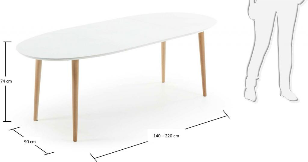 eettafel oqui verlengbaar 140 220 x 90 cm wit la forma. Black Bedroom Furniture Sets. Home Design Ideas