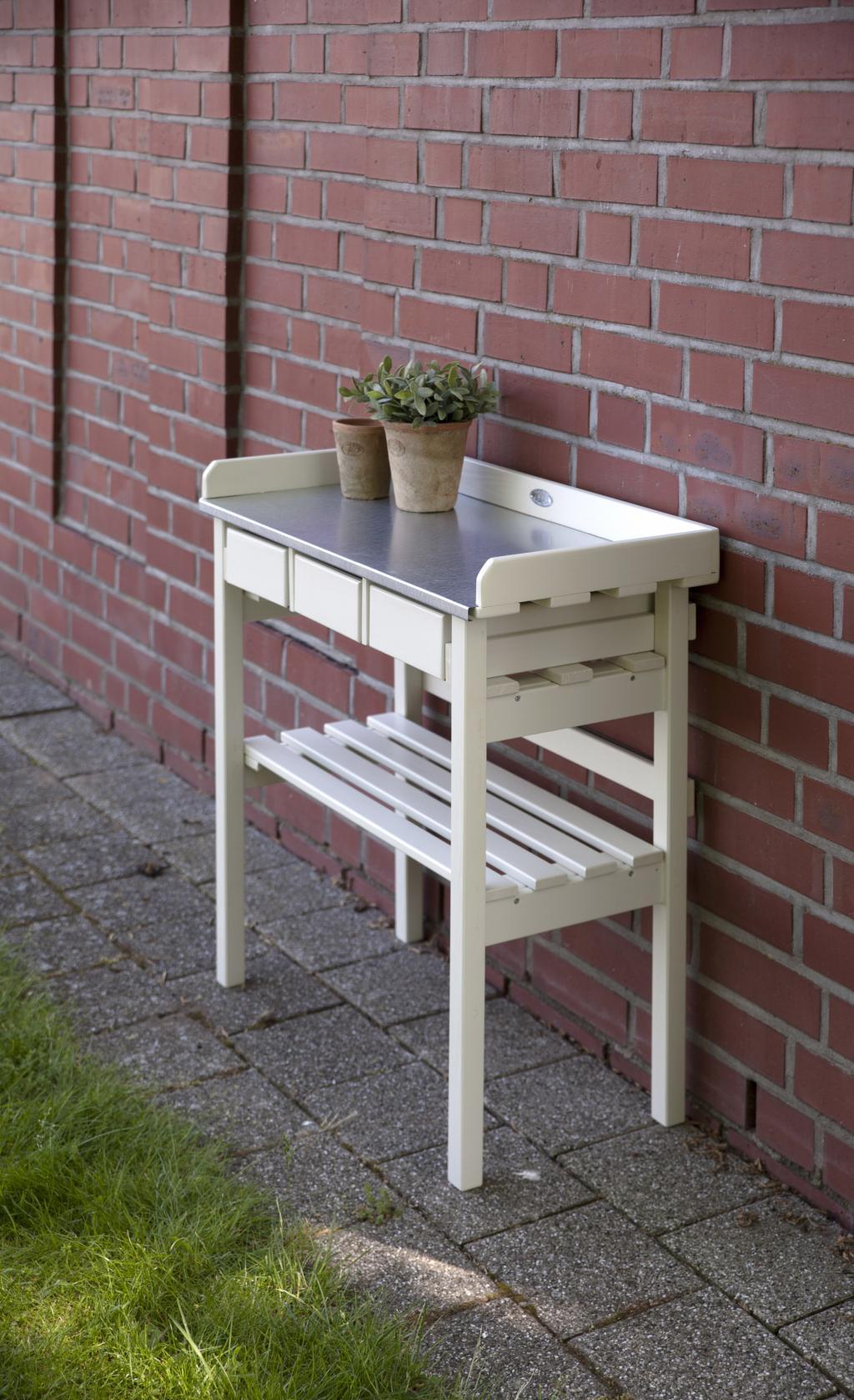 Arbeitstisch wei mit schubladen esschert design for Arbeitstisch design