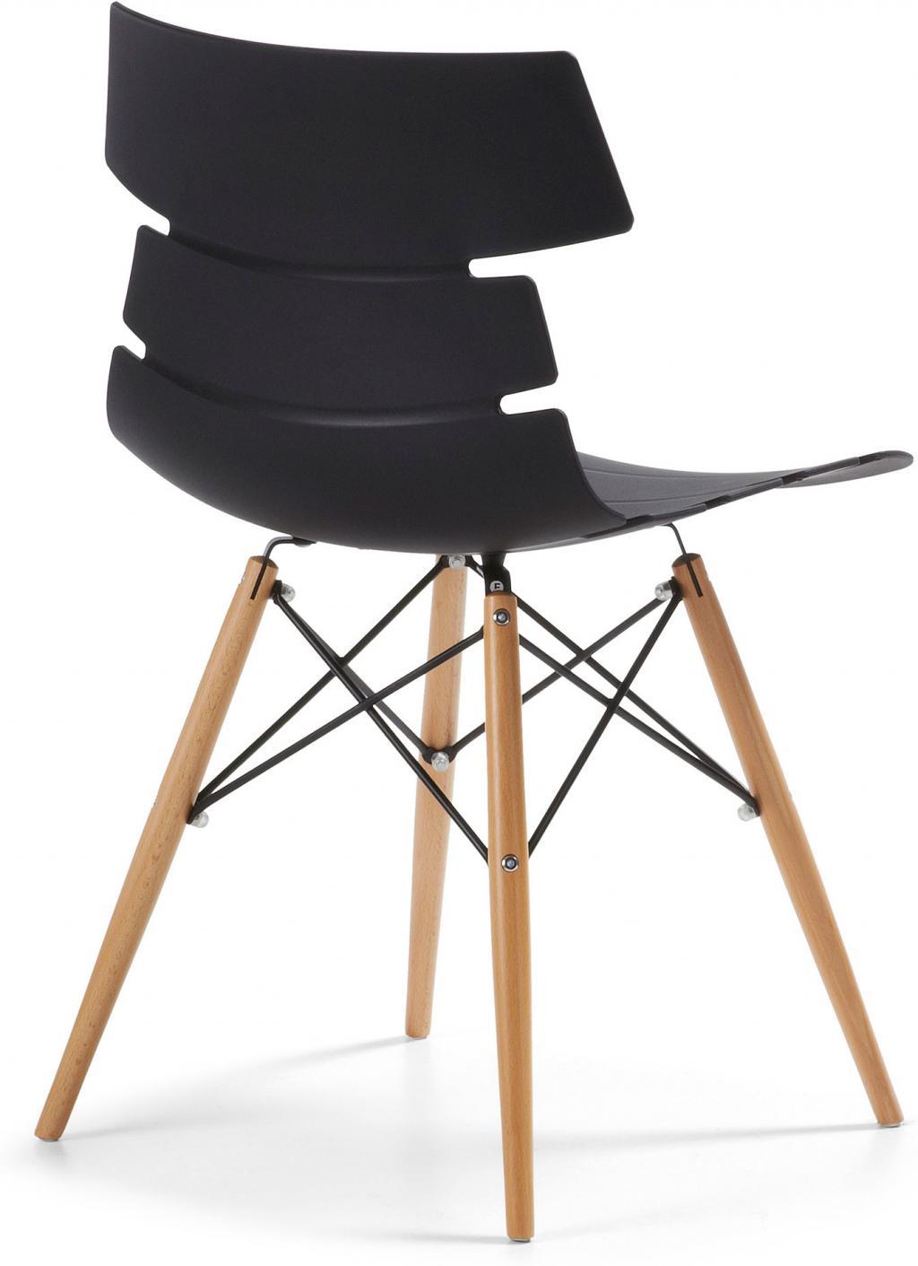 stuhl kalm schwarz holz kunststoff la forma kaufen wohn und. Black Bedroom Furniture Sets. Home Design Ideas
