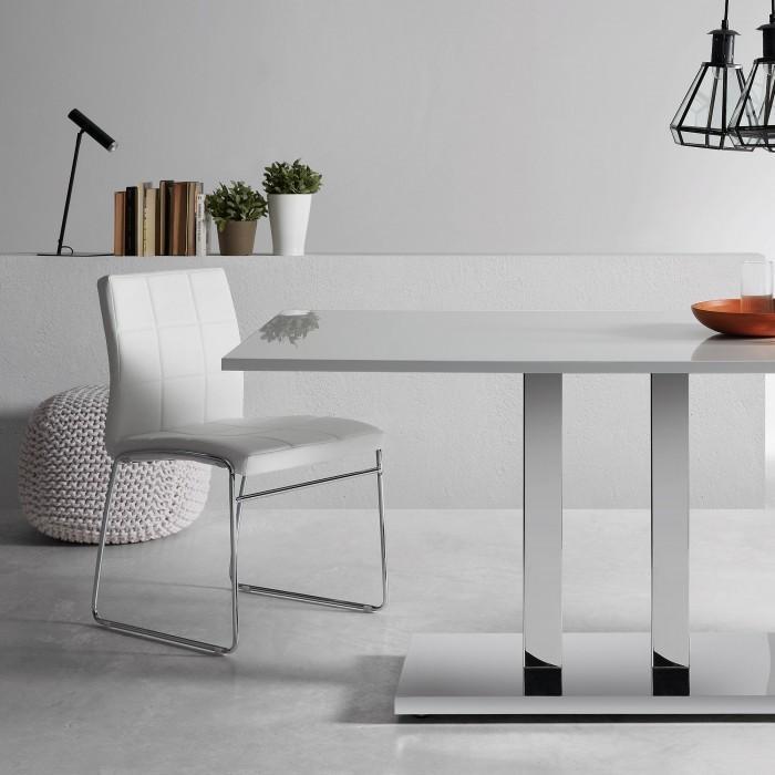 stuhl explorer wei kunstleder la forma kaufen wohn und lifestylewebshop. Black Bedroom Furniture Sets. Home Design Ideas