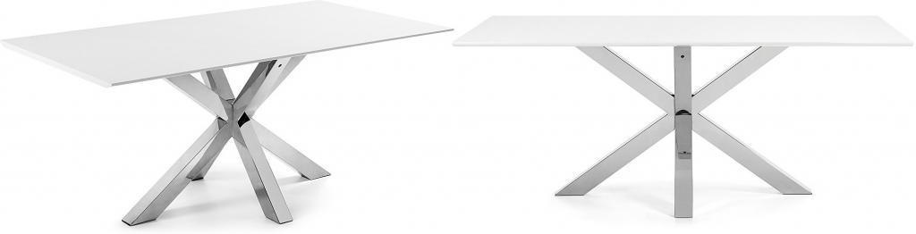esstisch arya wei edelstahl 200x100 la forma kaufen wohn und. Black Bedroom Furniture Sets. Home Design Ideas