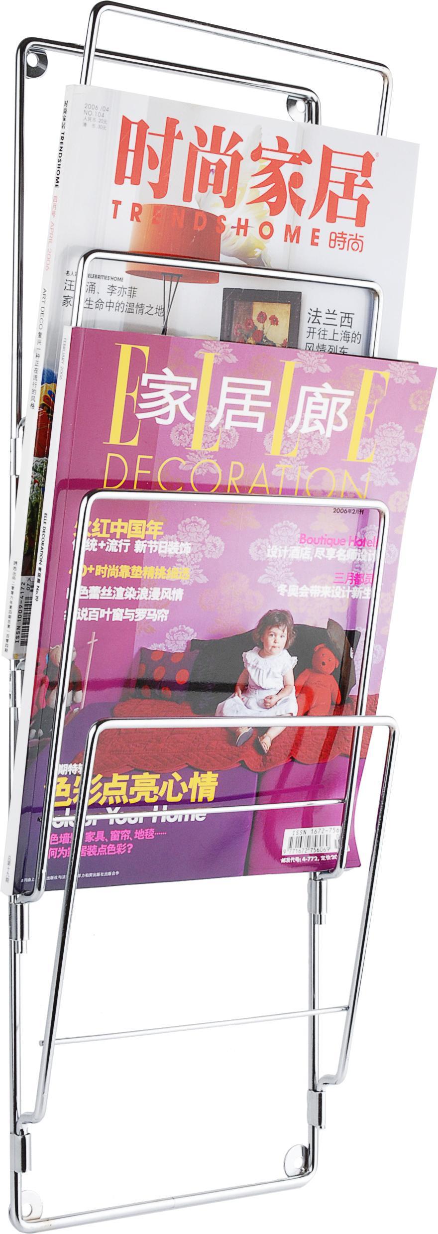 zeitschriftenst nder chrom present time kaufen wohn und lifestylewebshop. Black Bedroom Furniture Sets. Home Design Ideas