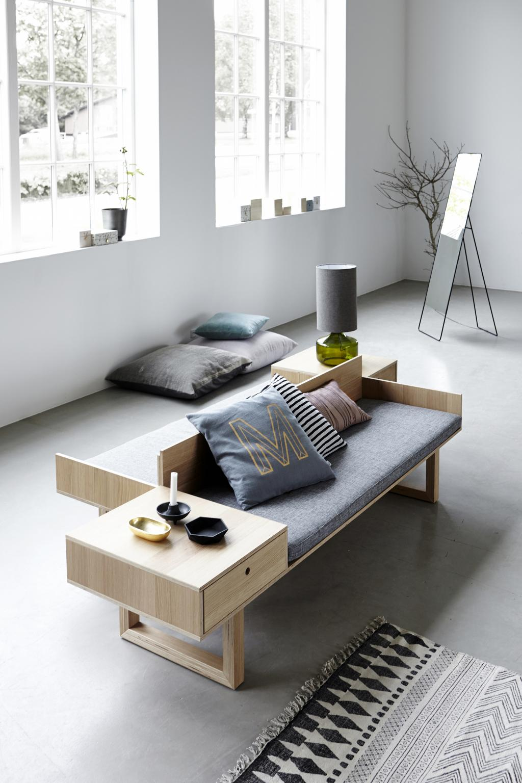 teppich block grau schwarz 90x200 baumwolle house doctor kaufen. Black Bedroom Furniture Sets. Home Design Ideas