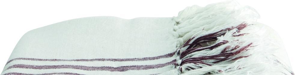 deken cover plaid creme paars 130x170 linnen katoen house doctor. Black Bedroom Furniture Sets. Home Design Ideas