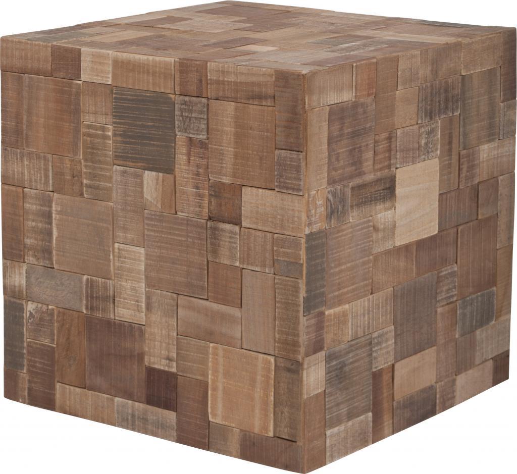 beistelltisch mosaik recyceltem holz zuiver kaufen. Black Bedroom Furniture Sets. Home Design Ideas
