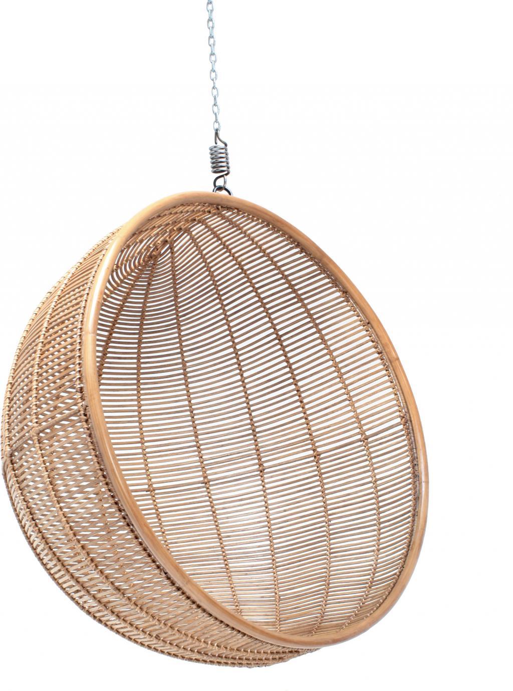 h ngesessel ball naturell rattan hk living kaufen wohn und. Black Bedroom Furniture Sets. Home Design Ideas