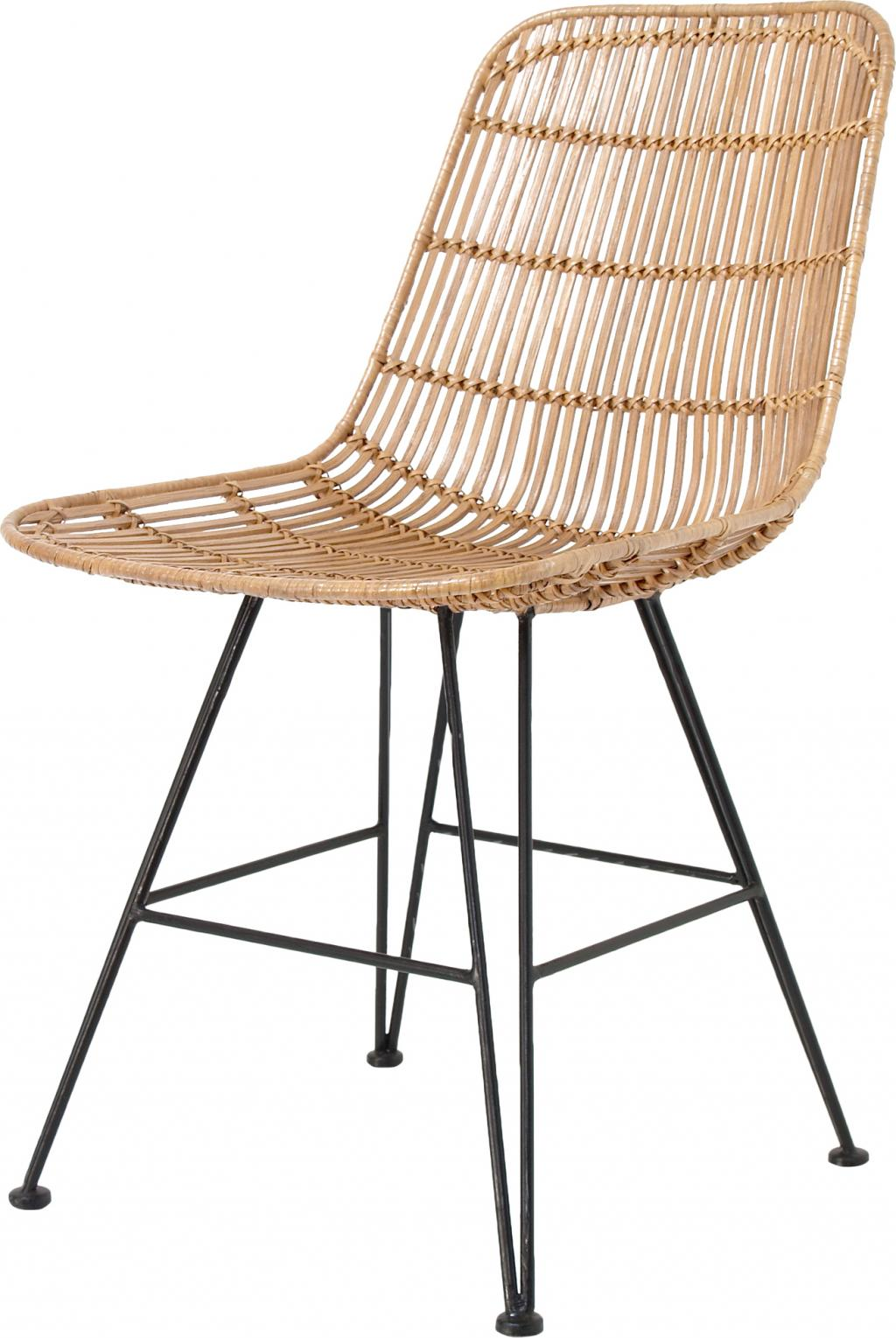 stuhl rattan naturell metall hk living kaufen wohn und lifestylewebshop. Black Bedroom Furniture Sets. Home Design Ideas