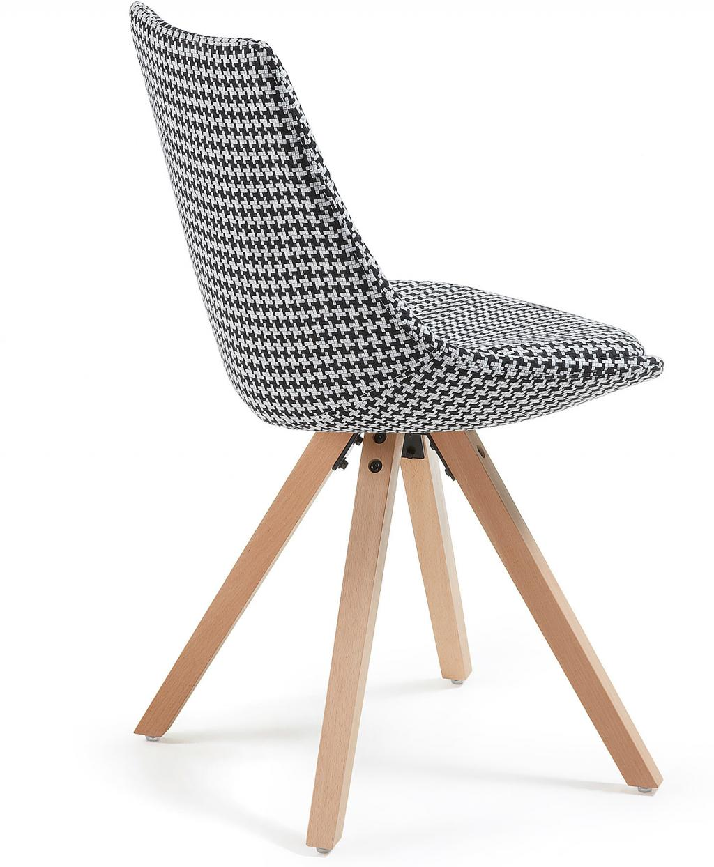stuhl avenue gepolstert kariert schwarz wei la forma kaufen wohn. Black Bedroom Furniture Sets. Home Design Ideas
