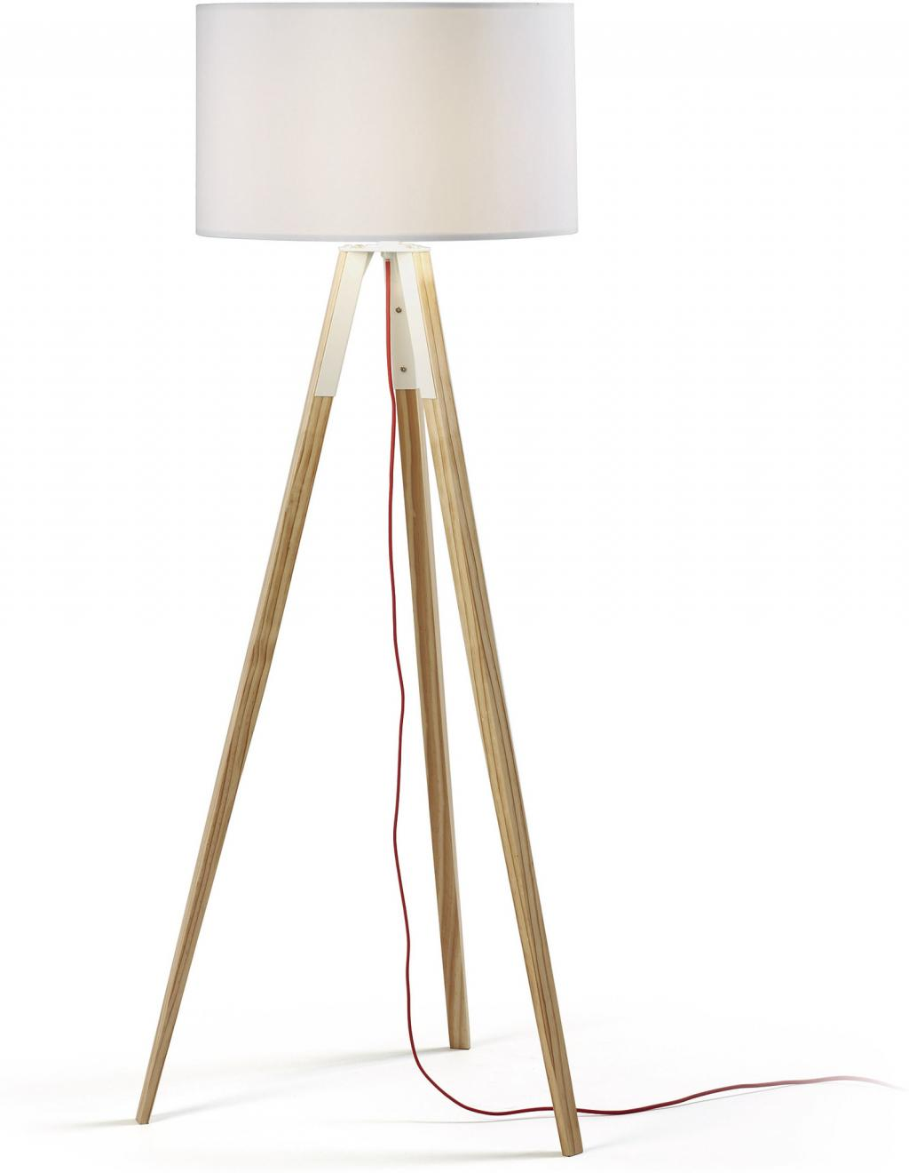 stehlampe iguazu tripod wei braun la forma kaufen wohn und. Black Bedroom Furniture Sets. Home Design Ideas