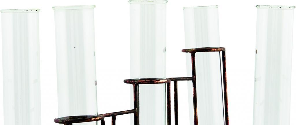 vase testtube 5 gl ser kupfer eisen house doctor kaufen wohn und. Black Bedroom Furniture Sets. Home Design Ideas
